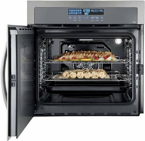 Imagem de Forno Elétrico de Embutir Electrolux Home Pro com 80 Litros de Capacidade, Grill e Painel Blue Touch Inox - OE9ST
