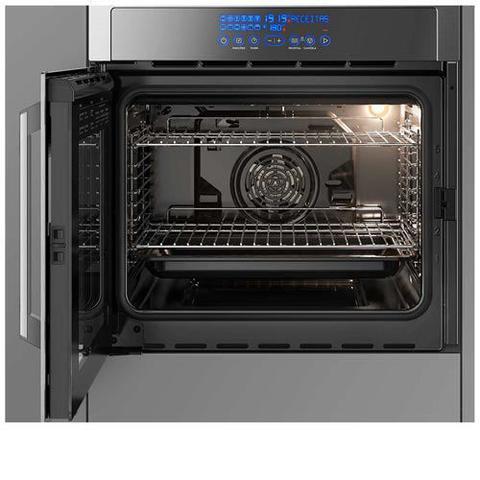 Imagem de Forno Elétrico de Embutir Electrolux Vidro Espelhado com Frame com 80 Litros, Grill e Painel Touch Inox - OE9XT