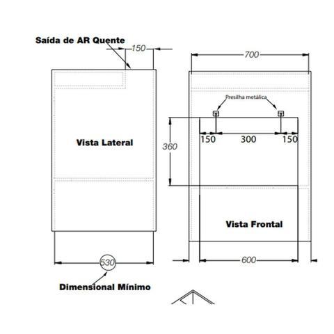 Imagem de Forno Elétrico de Embutir Fogatti F450 Espelhado 45L 220V 10052111