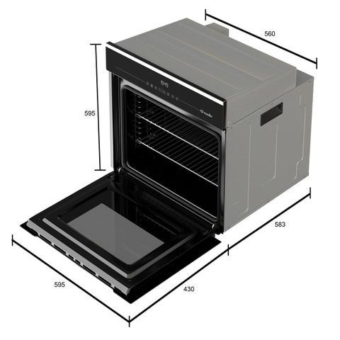 Imagem de Forno elétrico digital de embutir mueller preto 68 litros mfe0268g1 220v