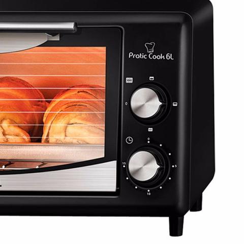 Imagem de Forno Elétrico Mondial Pratic Cook  FR-09 6 Litros - Preto - 220V