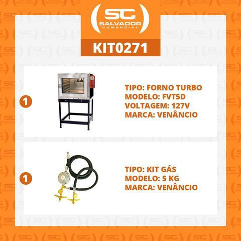 Imagem de Forno Turbo Gás para 5 esteiras Twister Fvt5d 127v com Kit Gás - Venâncio