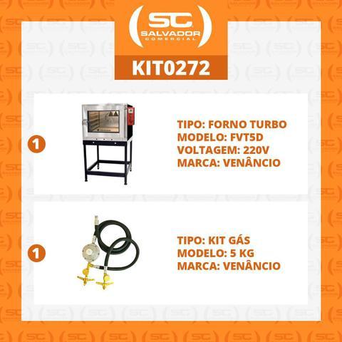 Imagem de Forno Turbo Gás para 5 esteiras Twister Fvt5d 220v com Kit Gás - Venâncio