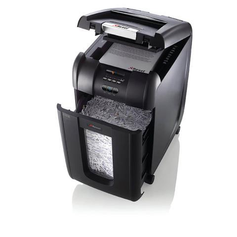 Imagem de Fragmentadora 300 folhas Alimentação Automática Supercorte em Partículas 220V Rexel 300X