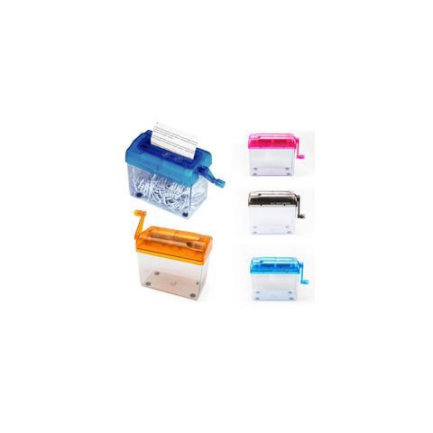 Imagem de Fragmentadora triturador picador de papel manual com manivela e cesto