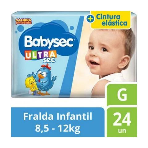 Imagem de Fralda Babysec Ultrasec Tamanho G Pacote Jumbo 24 Fraldas Descartáveis