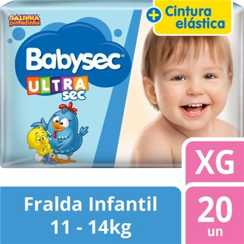 Imagem de Fralda Babysec Ultrasec Tamanho XG Pacote Jumbo 20 Fraldas Descartável