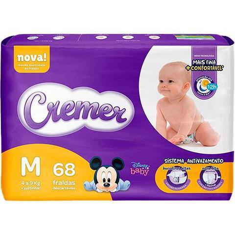 Imagem de Fralda Cremer Baby Hiper Proteção Até Noite E Dia Tamanho M Com 68 Unidades