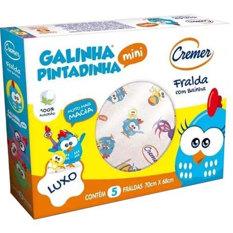 Imagem de Fralda de Pano Galinha Pintadinha + Minnie + Cremer Luxo  - 3 CXS