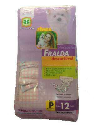 Imagem de Fralda Descartável Chalesco Para Cães Fêmeas - Tamanho P