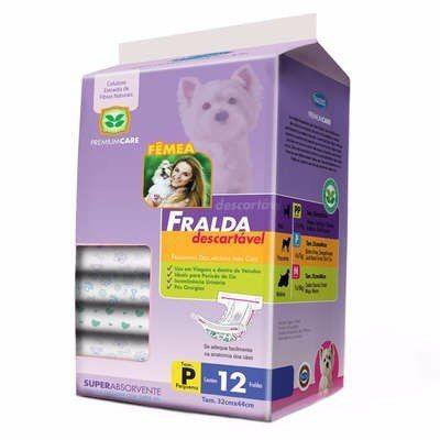 Imagem de Fralda Descartável de Cachorro - Tam P - Pacote com 12 Unidades
