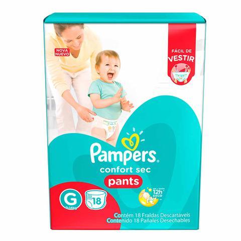 Imagem de Fralda Descartável Pampers Pants G 18 Unidades