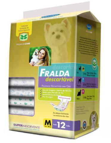 Imagem de Fralda Descartável para Cachorro - Tam M - Pacote com 12 Unidades