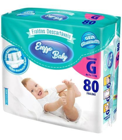 Imagem de Fralda Enzzo Baby G Com 80 Fraldas Revenda Atacado Barato