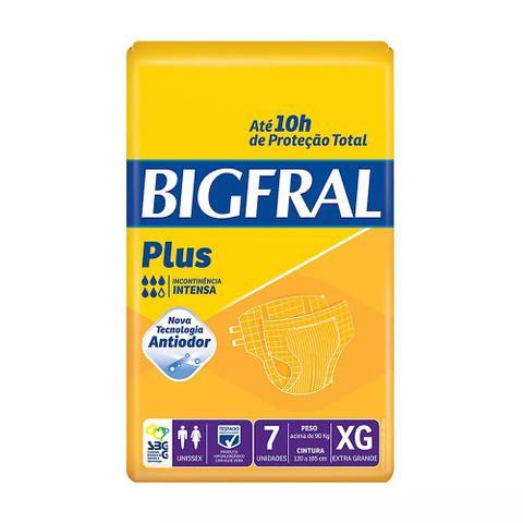 Imagem de Fralda geriátrica bigfral plus tamanho extra grande - 7 unidades
