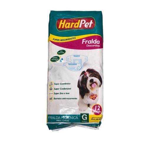 Imagem de Fralda Higiênica Hard Pet Para Cães Fêmeas 12 Unidades - Tamanho G