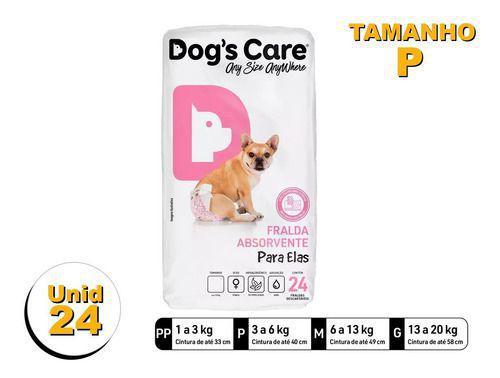 Imagem de Fralda Higiênica P/cães Fêmeas - Dog's Care Tam P - 24 Unid