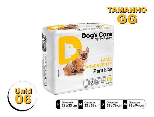 Imagem de Fralda Higiênica P/cães Machos - Dog's Care Tam Gg - 06 Unid