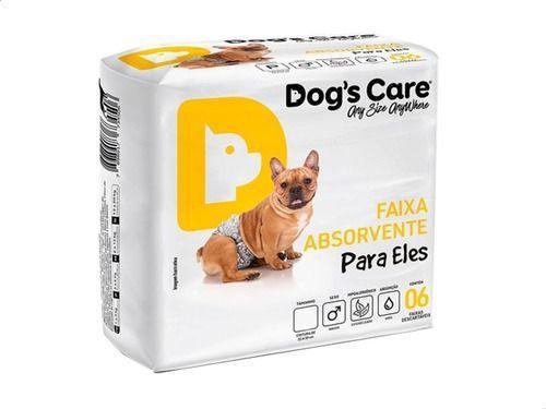 Imagem de Fralda Higiênica P/cães Machos - Dog's Care Tam P - 06 Unid