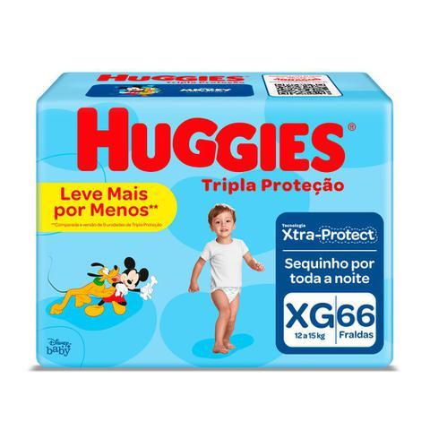 Imagem de Fralda Huggies Tripla Proteção Tamanho XG Pacote Hiper 66 Fraldas Descartáveis