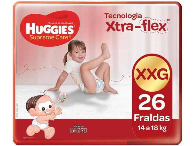 Imagem de Fralda Huggies Turma da Mônica Supreme Care - Tam. XXG 14 a 18kg 26 Unidades