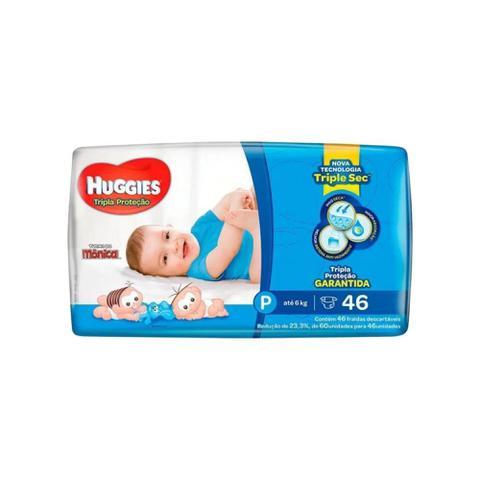 Imagem de Fralda infantil huggies com 46 tripla proteção pq