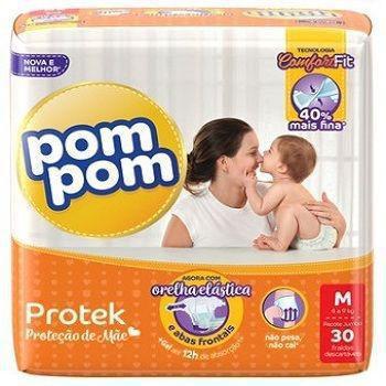 Imagem de Fralda Infantil Pom Pom Protek M 30 unidades
