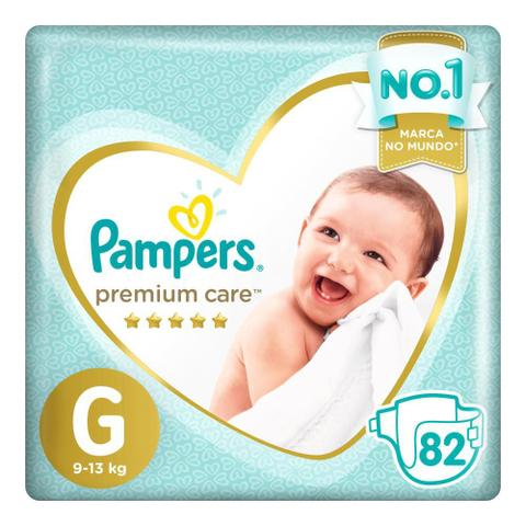 Imagem de Fralda Pampers Premium Care Nova Top Tamanho G 82 Unidades