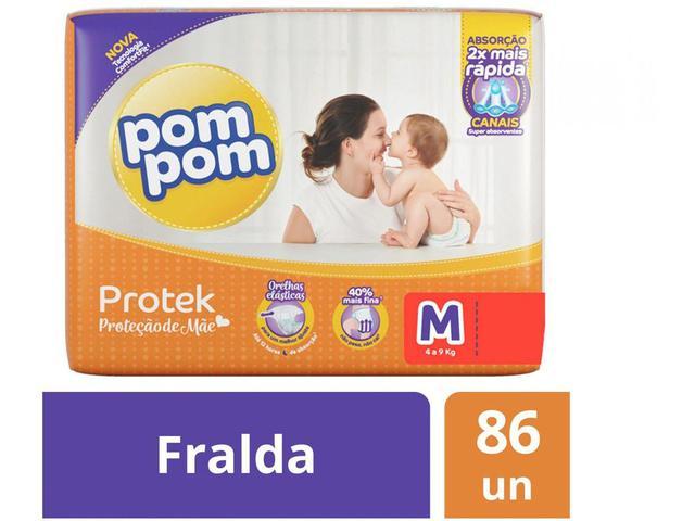 Imagem de Fralda Pom Pom Protek Proteção de Mãe Hiper - M 86 Unidades