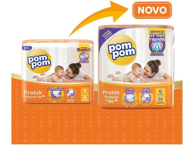Imagem de Fralda Pom Pom Protek Proteção de Mãe Mega