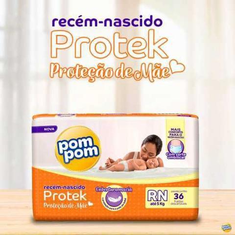 Imagem de Fralda PomPom Amor de Mãe 36 unid - RN até 5 kg