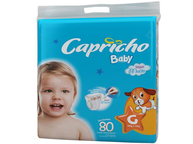 Imagem de Fraldas Capricho Baby Tam G 80 Unidades