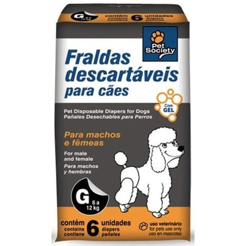Imagem de Fraldas Descartáveis para Cães Tamanho G