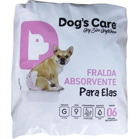 Imagem de Fraldas Para Fêmeas Dogs Care Tam G - 6 unidades ( Cadelas de 13 a 20kg)