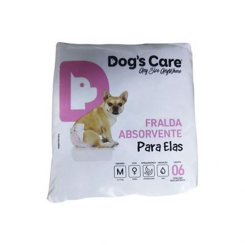 Imagem de Fraldas Para Fêmeas Dogs Care Tam M - 6 unidades ( Cadelas de 6 a 13kg)