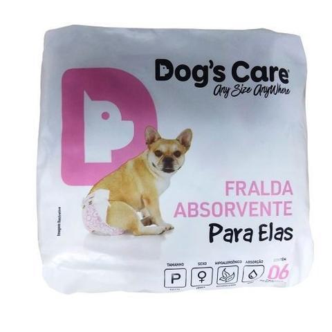 Imagem de Fraldas Para Fêmeas Dogs Care Tam P - 6 unidades (Cadelas de 3 a 6kg)