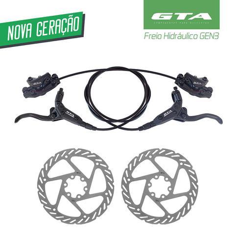 Imagem de Freio a Disco Hidraulico GTA Dianteiro e Traseiro Com Rotor