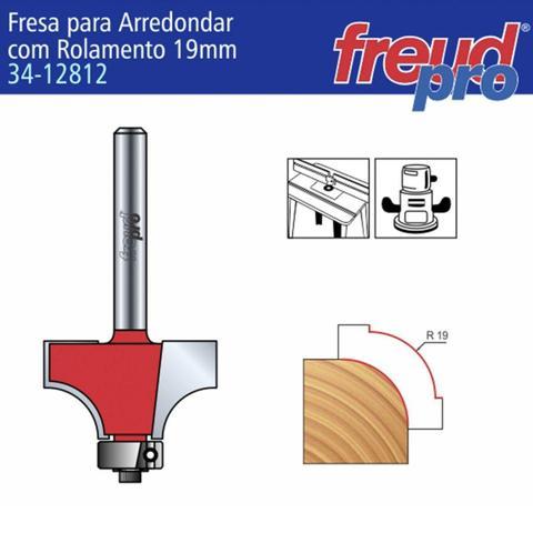 Imagem de Fresa Tipo Cordão Para Tupia Raio 19mm 34-12812 Freud