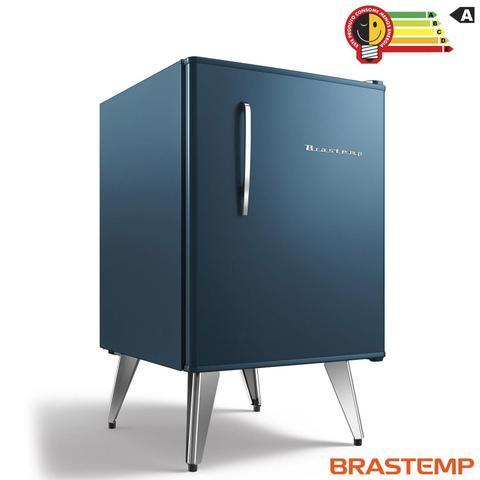Imagem de Frigobar brastemp retro azul 76 litros - 110v - bra08bz