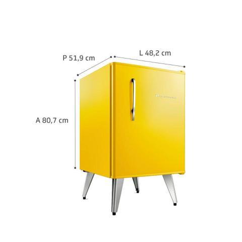 Imagem de Frigobar Retrô Brastemp 76 litros Amarelo BRA08BYANA 127V