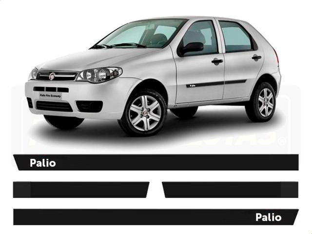 Imagem de Friso Borrachão Lateral Fiat Palio Fire 4 portas 2000 a 2012