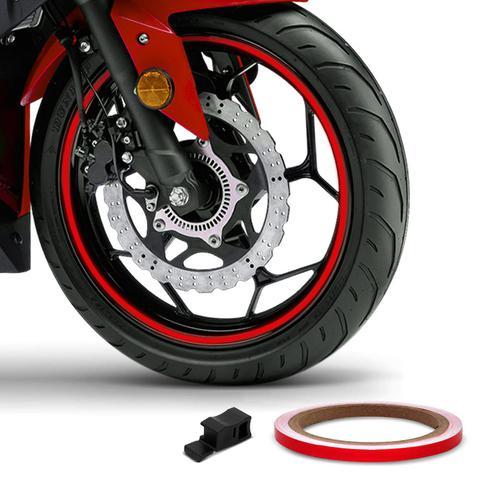 Imagem de Friso de Roda Reflexivo 7mm com Aplicador Adesivo Vermelho
