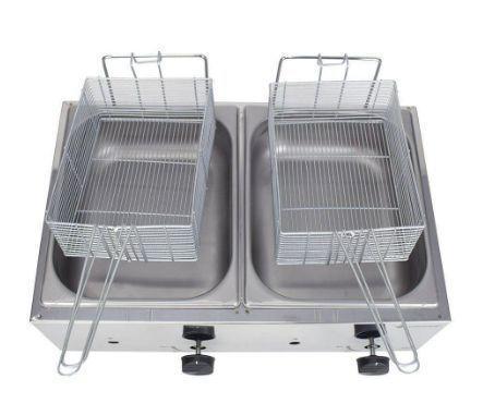 Imagem de Fritadeira A Gás 2 Cubas 5 Litros Cada Em Aço Inox Venâncio