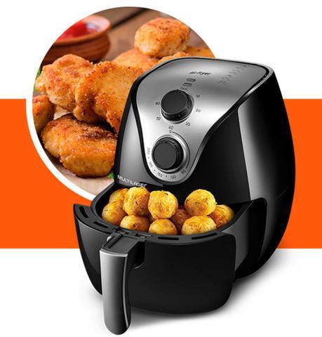 Imagem de Fritadeira Air Fryer Elétrica Sem Óleo Multilaser 110v 220v
