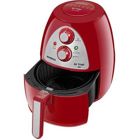 Imagem de Fritadeira Air Fryer Mondial Inox Red Premium AF-14 - Vermelho