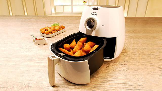 Imagem de Fritadeira airfryer philips walita + livro + máquina de algodão doce gourmet