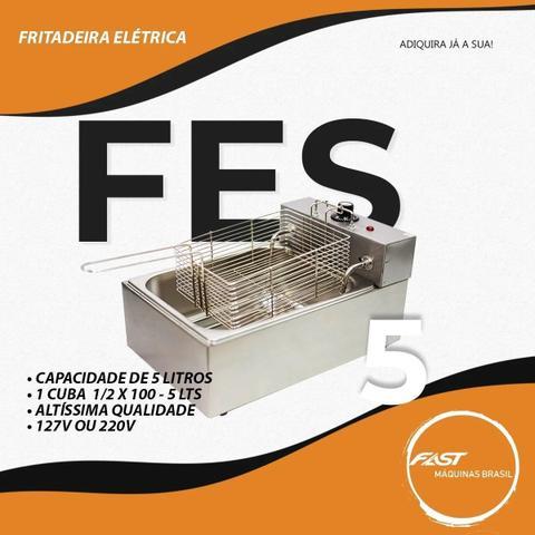 Imagem de Fritadeira Elétrica 1 Cuba 5 Litros e Tampa 220v