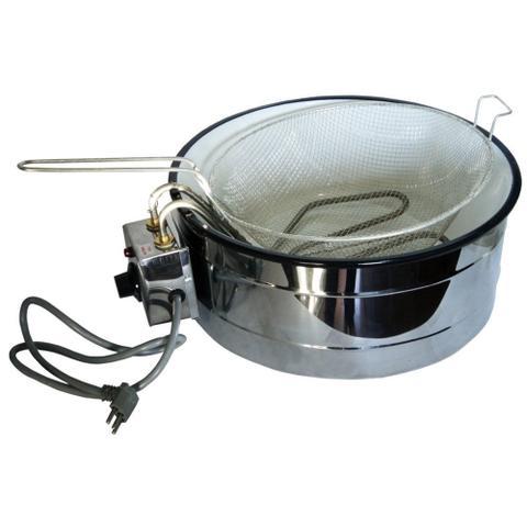 Imagem de Fritadeira Elétrica 3 Litros Inox Tacho Esmaltado Branco 220V