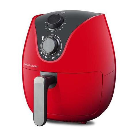 Imagem de Fritadeira Elétrica Air Fryer 4L 1500W CE083 Multilaser Vermelha 127v