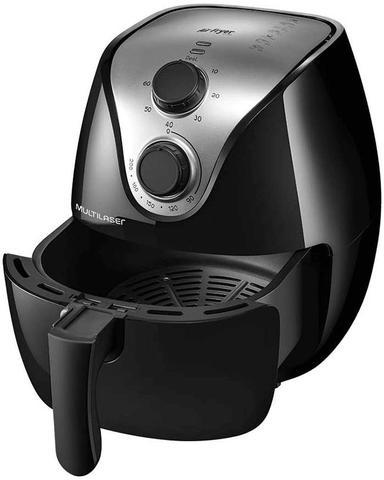 Imagem de Fritadeira Elétrica Air Fryer Gourmet 4 Lt 1500W Preta Multilaser - 220V